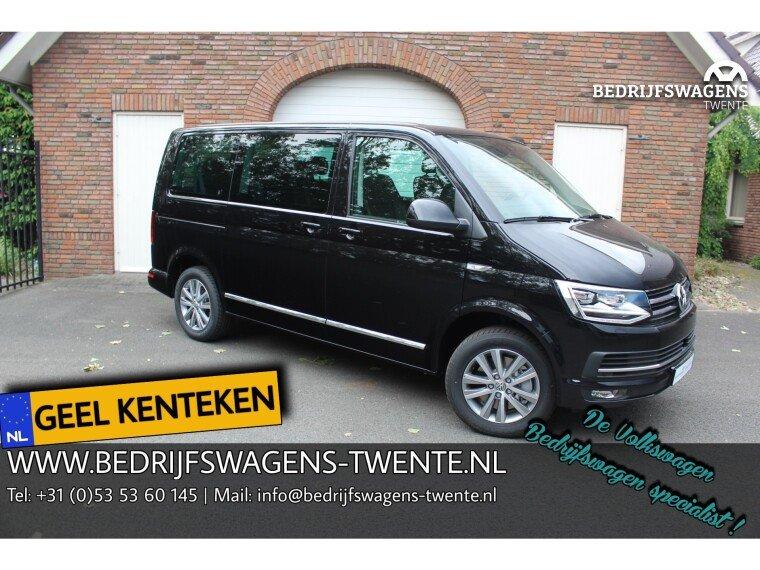Foto van Volkswagen Caravelle T6 KR 204PK KR DSG TDI HIGHLINE PKW   GEEL KENTEKEN