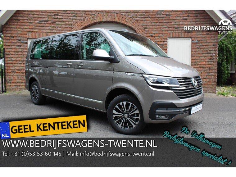 Foto van Volkswagen Caravelle T6 .1 Highline 150 pk DSG GEEL KENTEKEN 8 pers.