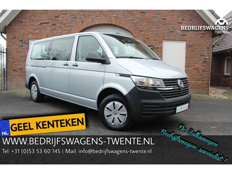 Foto van Volkswagen Transporter T6 .1 2.0 TDI 150 pk LWB GEEL KENTEKEN 9 PERSOONS