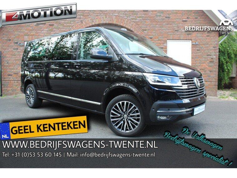 Foto van Volkswagen Multivan T6 .1 199pk DSG 4-MOTION L2H1 | GEEL KENTEKEN IN/IN