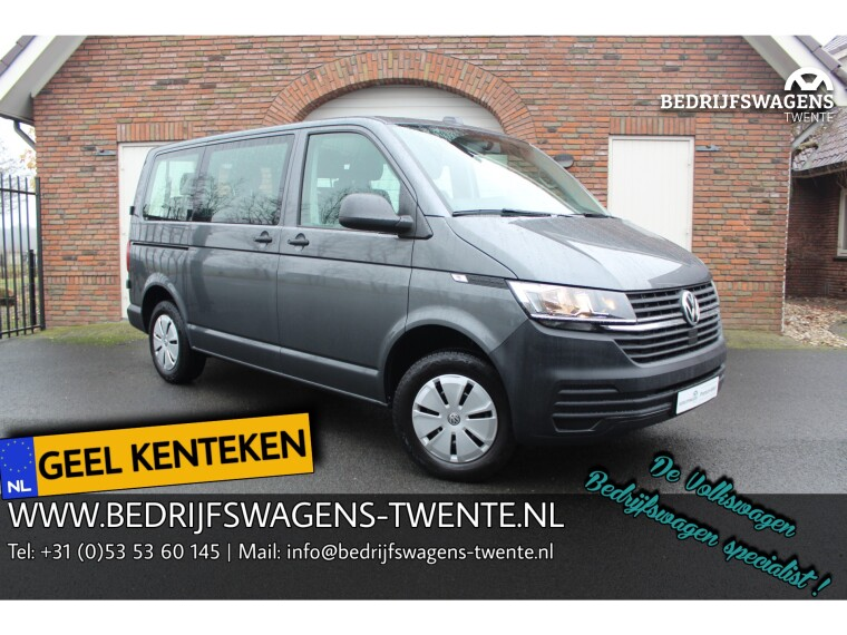 Foto van Volkswagen Transporter T6 .1 2.0 TDI 150 pk KWB GEEL KENTEKEN 9-PERS. IN/IN