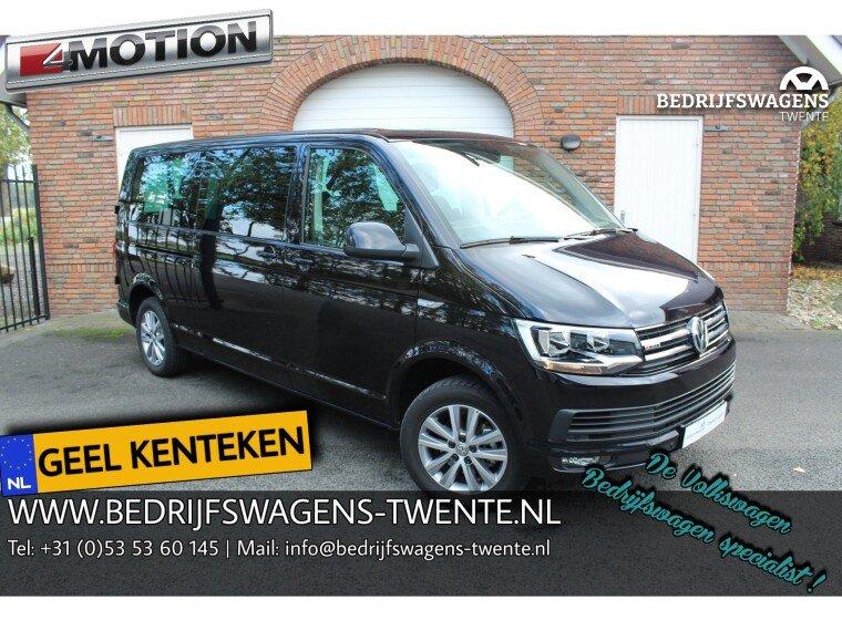 Foto van Volkswagen Caravelle T6 LR LANG 2.0 TDI 150 pk DSG 4-MOTION GEEL KENTEKEN