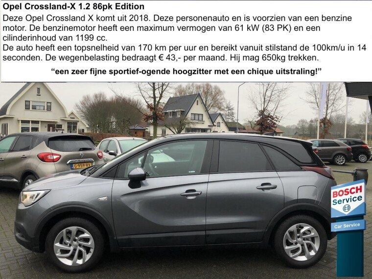 Foto van Opel Crossland X 1.2 Edition