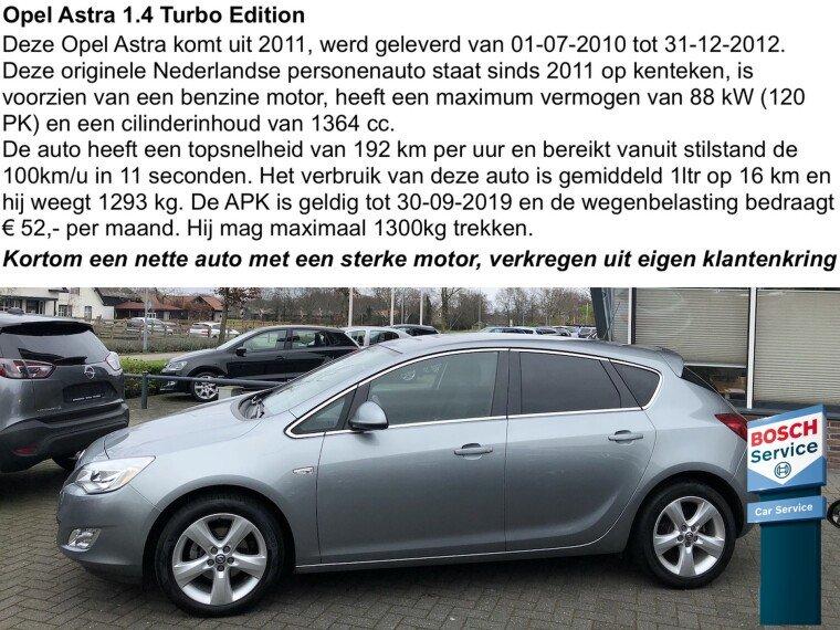 Foto van Opel Astra 1.4 Turbo Edition