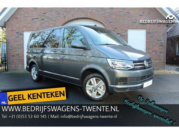 Foto van Volkswagen Multivan T6 2.0 TDI 204 pk DSG Geel kenteken 7 pers. MARGE