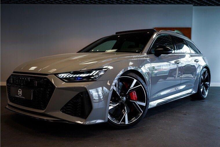 Foto van Audi RS6 Avant TFSI Quattro 600PK NARDO | Keramisch | Panorama | 3D B&O | Suede | ALLE OPTIES! Garantie