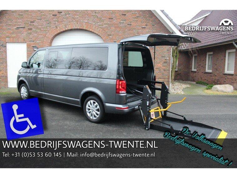 Foto van Volkswagen Transporter T6 .1 ROLSTOEL AANGEPASTE BUS 150 pk Elektr. LIFT | LWB |